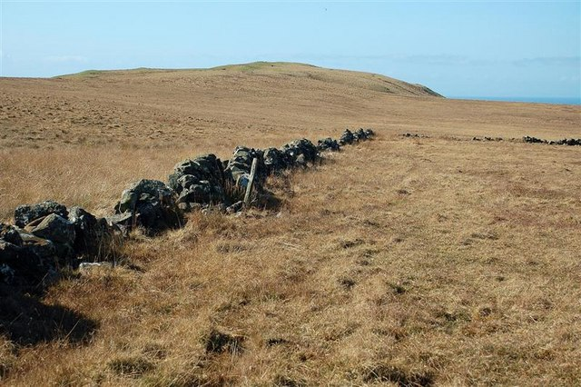 Dry-Stane Dyke On The Moor