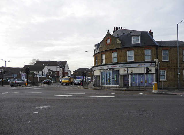 Junction Southbury Road and Hertford Road, Ponders End