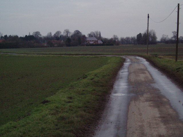 Washinghall Lane towards Eastoft