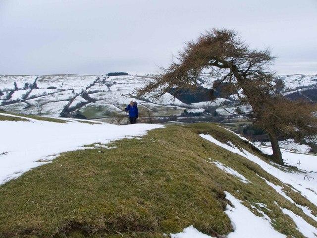 Looking South along Offa's Dyke