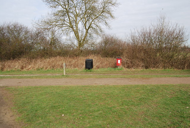 Bins by the side of the Wealdway & National Cycleway 12