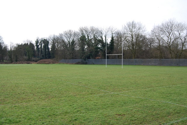 Rugby posts by the Wealdway
