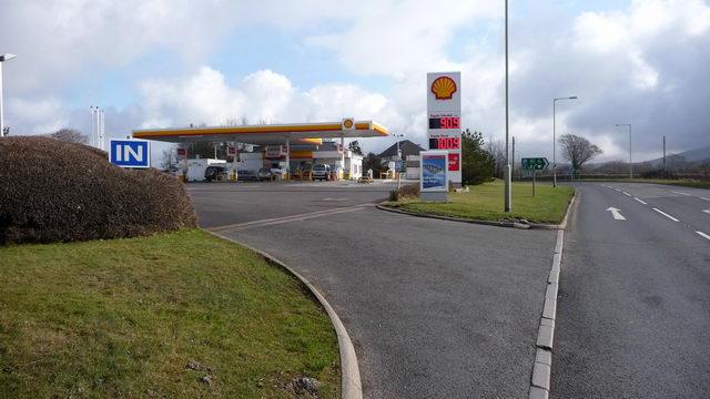 Shell filling station.