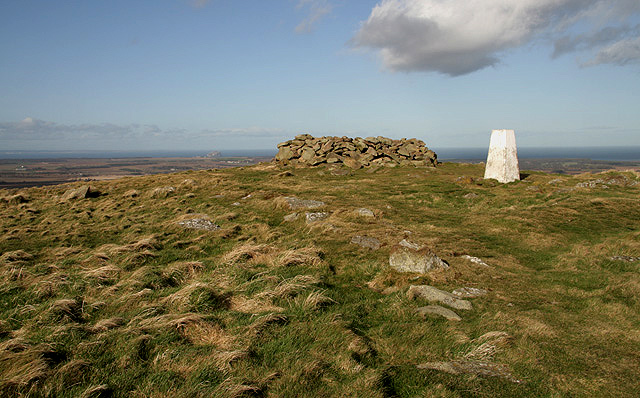 The trig point on Traprain Law
