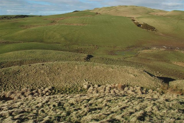 Looking Down From The Top Of Dinvin Motte