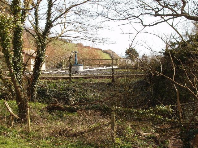 Tank at Branscombe sewage works