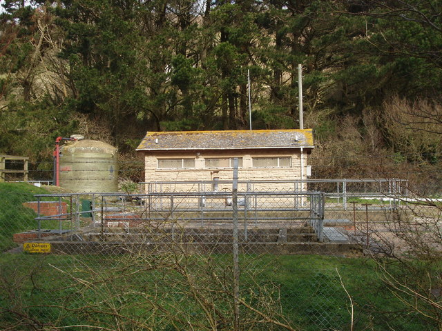 Building at Branscombe sewage works