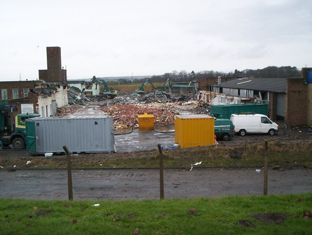 Demolition of Ramars Clothing Factory