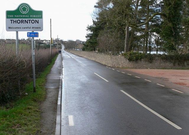 Reservoir Road enters Thornton