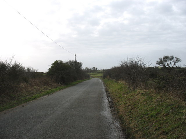 View south along the Gadfa road