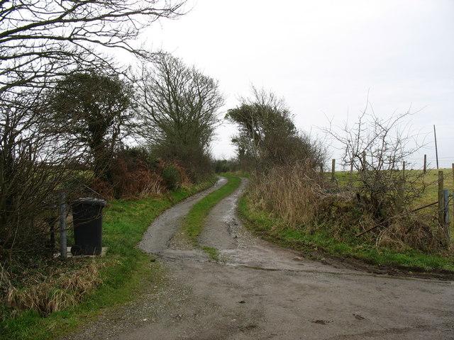 Track leading to Bryniau Tecaf