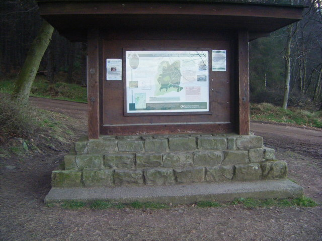 Thrunton Wood information board