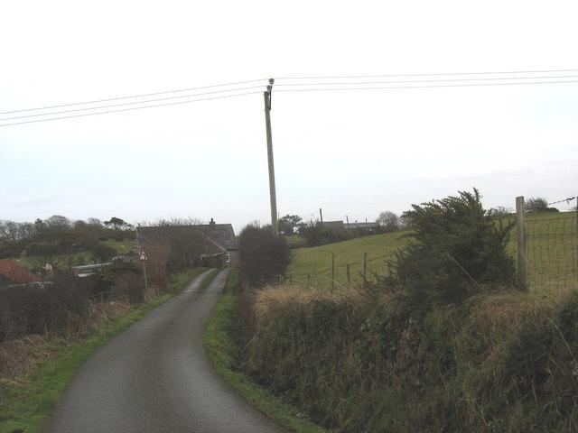 Country road near Cors-yr-odyn