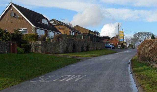 Merrylees Road in Thornton, Leicestershire