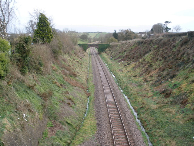 Branch line to Exeter, south of Copplestone