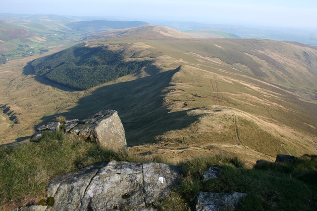 View SE from Cadair Berwyn New Top