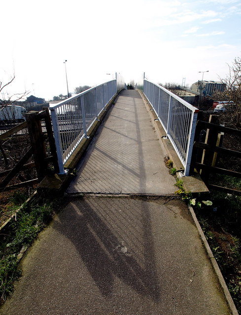 Footbridge over the A63 and Railway