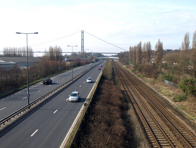 The A63 and Main Line into Hull