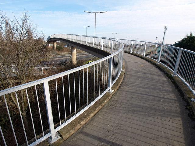 Footbridge over the A63