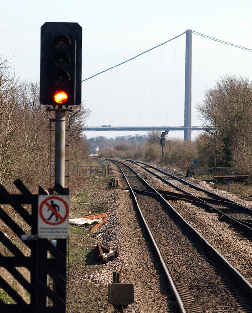 Looking eastwards from North Ferriby Station