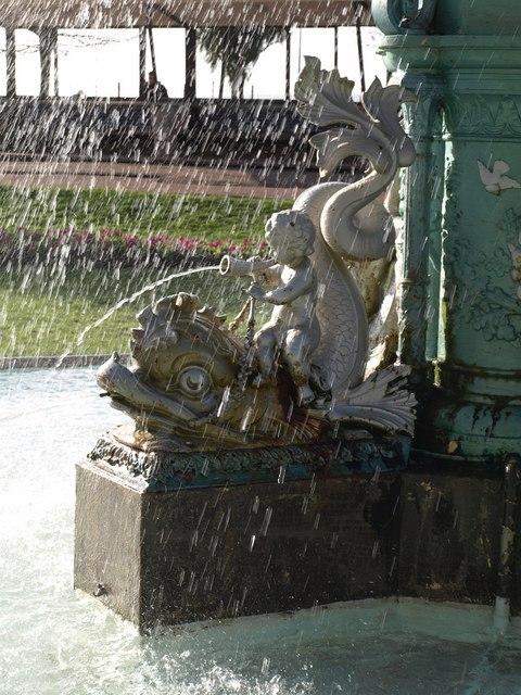 Detail, Fountain, Princess Gardens, Torquay