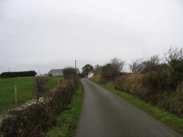 View westwards towards the Pen-y-lon crossroads