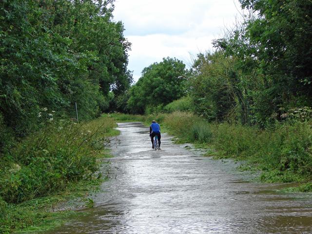 Flooded lane to Elvaston