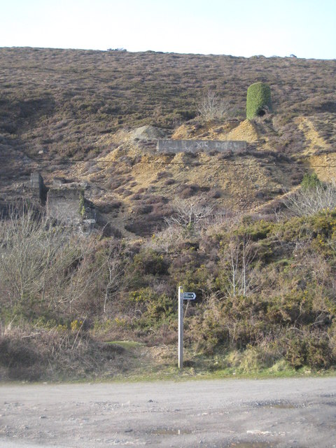 Old mine workings at Tywarnhale Mine