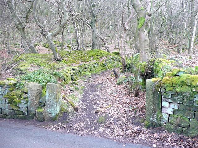 Gateway to Hathershelf Scout Wood, Mytholmroyd