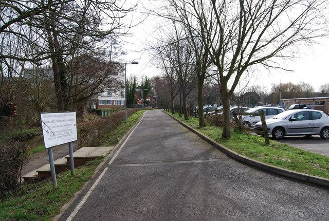 Track by lower Castle Field Car Park