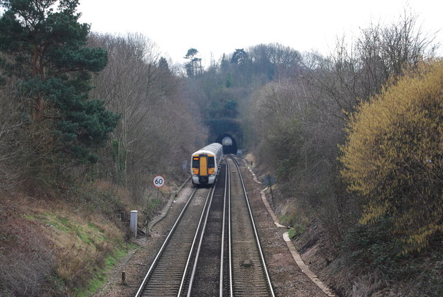 The Tunbridge Wells train enters the Somerhill Tunnel