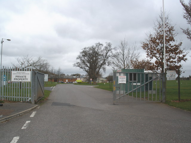 Entrance to Westpoint Showground, near Clyst St Mary