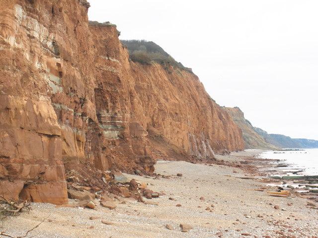 Jurassic coastal cliffs, east of Sidmouth