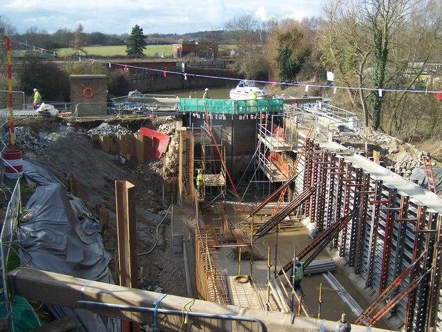 Hampstead Lock undergoing renovation