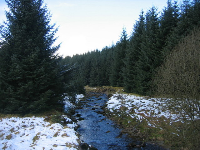 Lewis Burn near High Long House