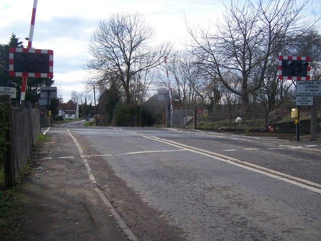 Railway Crossing on B2162 Hampstead Lane