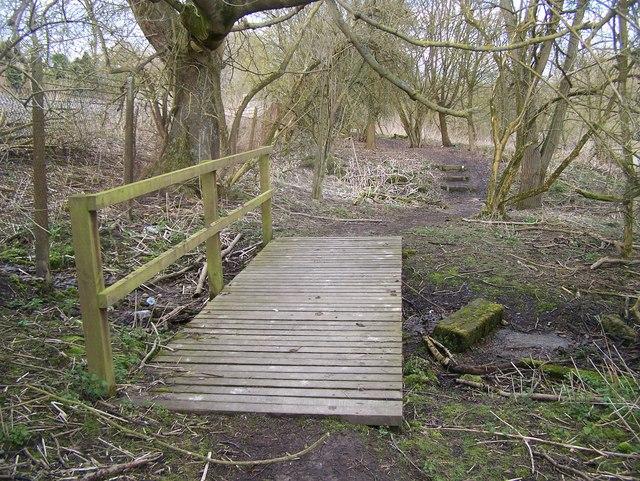 Footbridge over Nettlestead Place garden stream