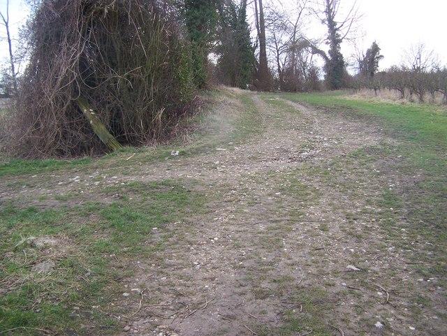 Footpath junction near Rock Farm