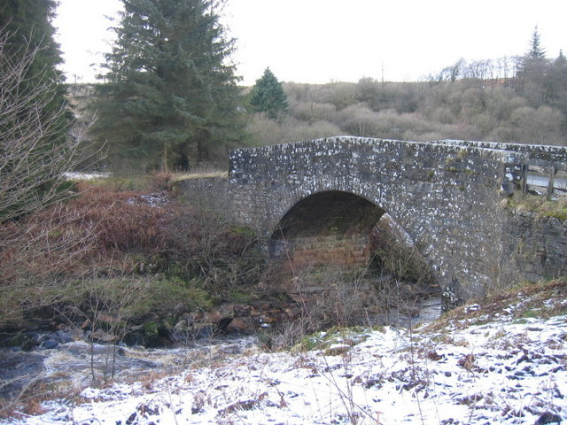 Bridge over The Lewis Burn at The Forks