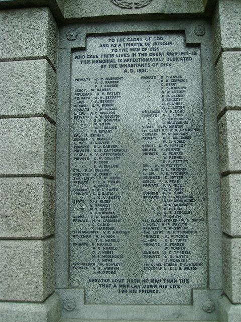 Diss War Memorial