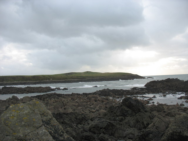 Porth Nobla from the Ynys Sych reef