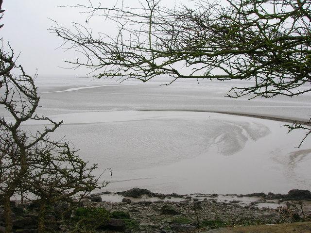 Mudflats on Morecambe Bay