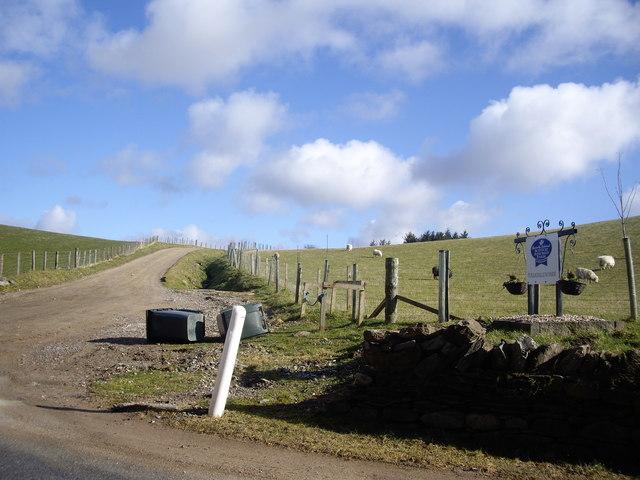 Access road to Tullochallum Farm