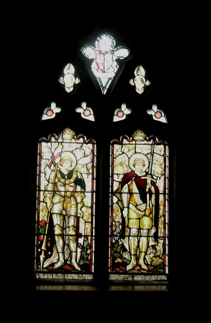 Stained glass window on the north wall at Holy Trinity, Blendworth