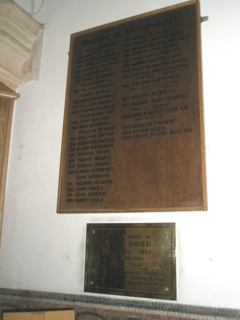 A familiar name on the incumbency board at Holy Trinity, Blendworth