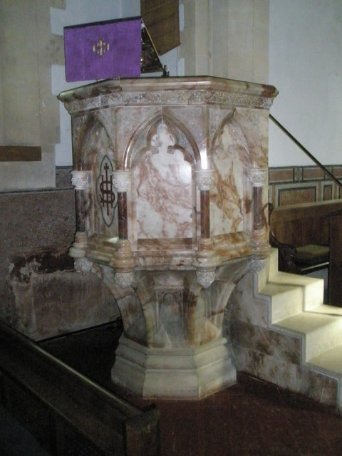The pulpit at Holy Trinity, Blendworth