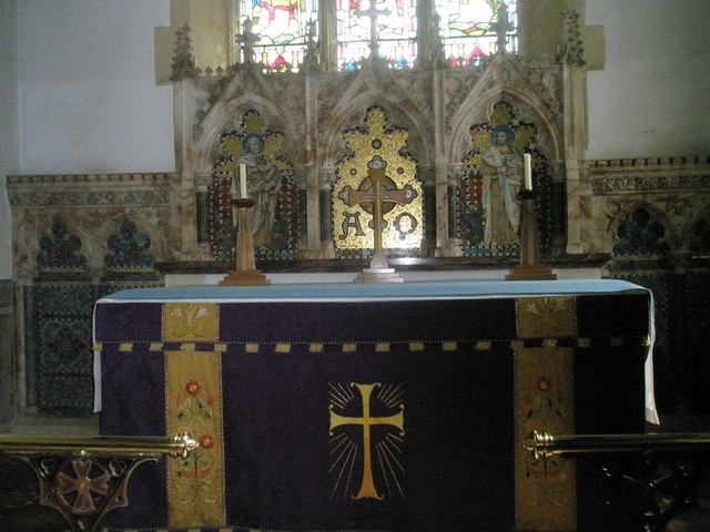 The altar at Holy Trinity, Blendworth
