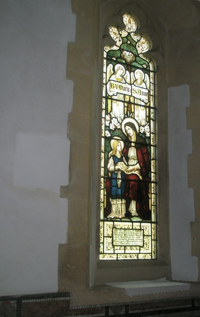 Beautiful stained glass window at Holy Trinity, Blendworth