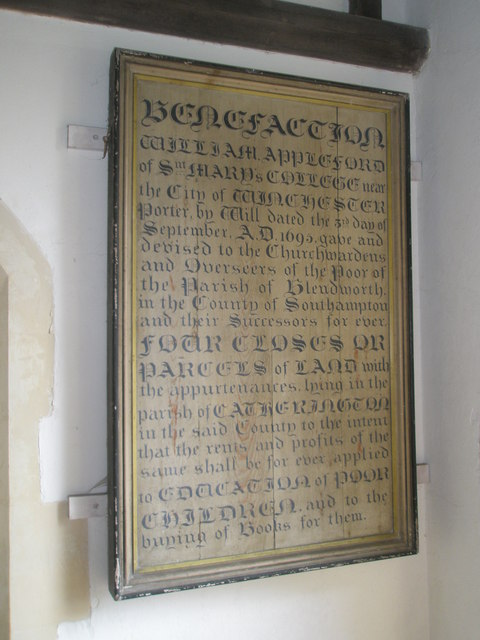 Notice in the porch at Holy Trinity, Blendworth