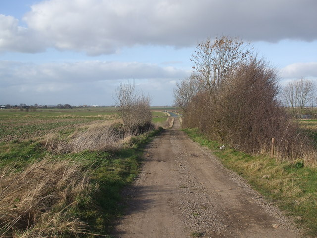 Stone track on Crowle hill